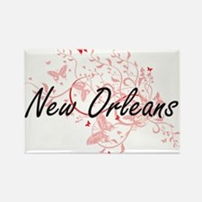 New Orleans Louisiana City Artistic design Magnets