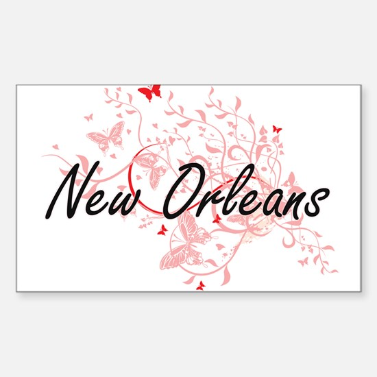 New Orleans Louisiana City Artistic design Decal