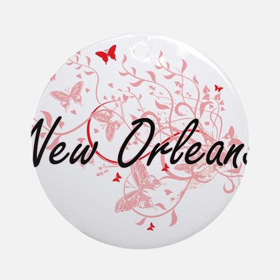 New Orleans Louisiana City Artistic Round Ornament