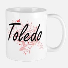 Toledo Ohio City Artistic design with butterf Mugs