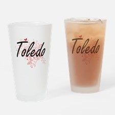 Toledo Ohio City Artistic design wi Drinking Glass
