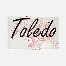 Toledo Ohio City Artistic design with butt Magnets