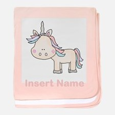 Little Unicorn Personalized baby blanket