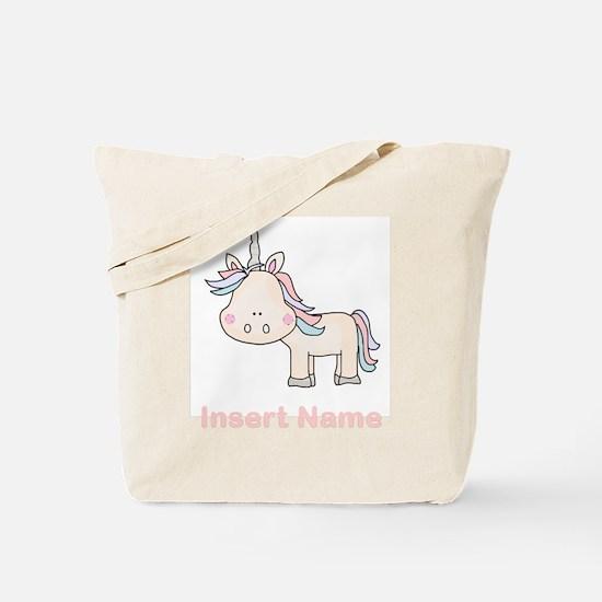 Little Unicorn Personalized Tote Bag