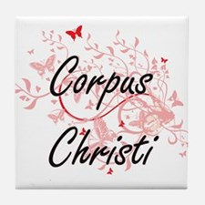 Corpus Christi Texas City Artistic de Tile Coaster