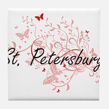 St. Petersburg Florida City Artistic Tile Coaster