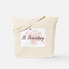St. Petersburg Florida City Artistic desi Tote Bag