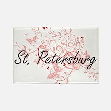 St. Petersburg Florida City Artistic desig Magnets