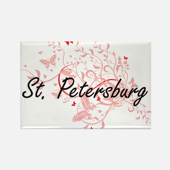 St. Petersburg Florida City Artistic desig Magnets