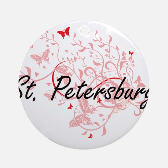 St. Petersburg Florida City Artisti Round Ornament