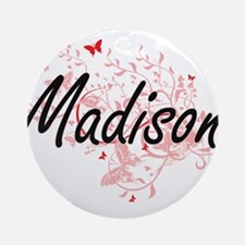 Madison Wisconsin City Artistic des Round Ornament