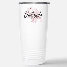 Orlando Florida City Ar Stainless Steel Travel Mug