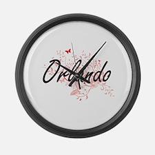 Orlando Florida City Artistic des Large Wall Clock