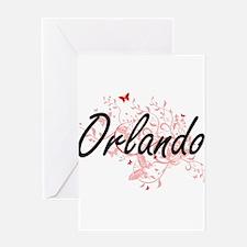 Orlando Florida City Artistic desig Greeting Cards