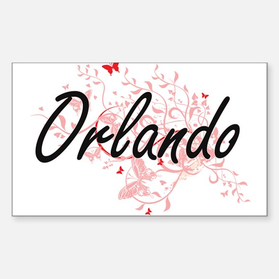 Orlando Florida City Artistic design with Decal