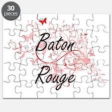 Baton Rouge Louisiana City Artistic design Puzzle