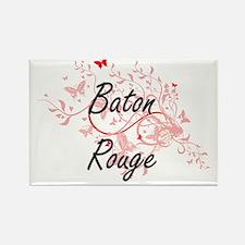 Baton Rouge Louisiana City Artistic design Magnets