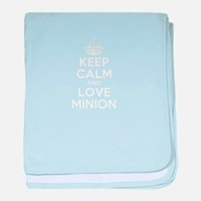 Keep Calm and Love MINION baby blanket