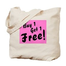 Twins Pink B1G1 Free Funny Tote Bag