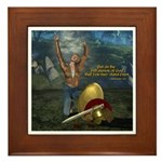 Soldier of the Lord (Woman) Framed Tile