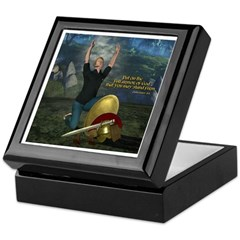 Soldier of the Lord (Man) Keepsake Box