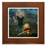 Soldier of the Lord (Man) Framed Tile
