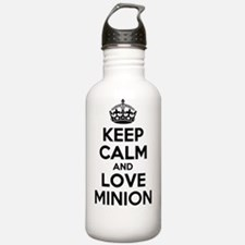Keep Calm and Love MIN Water Bottle