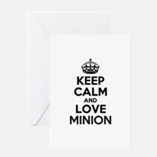 Keep Calm and Love MINION Greeting Cards