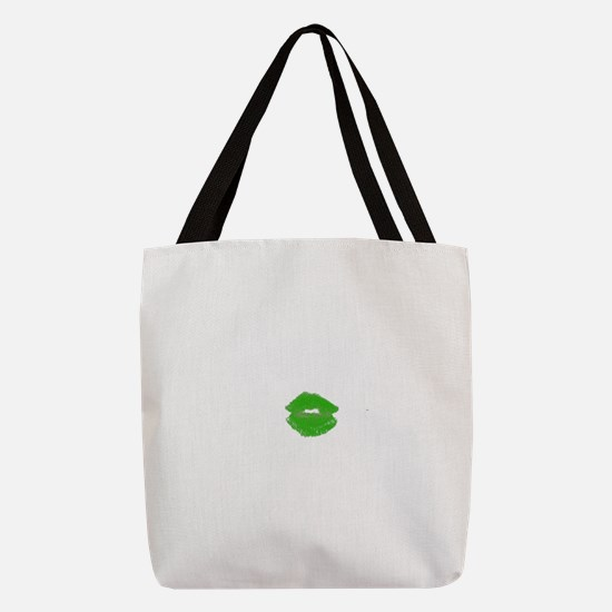 Kiss Me Im Irish Green Pucker L Polyester Tote Bag