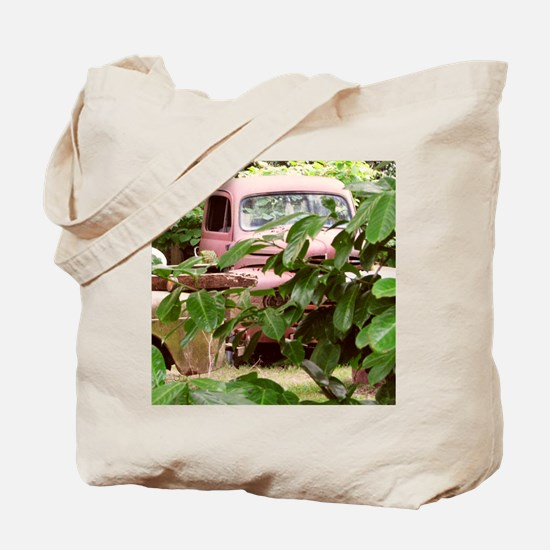 Old Trucks In The Weeds Tote Bag