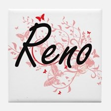 Reno Nevada City Artistic design with Tile Coaster