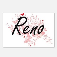 Reno Nevada City Artistic Postcards (Package of 8)