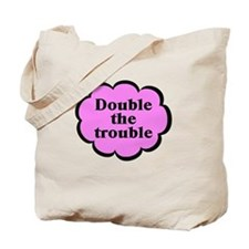 Double Trouble P Twins Tote Bag