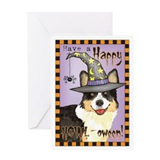 Halloween Corgi Greeting Card