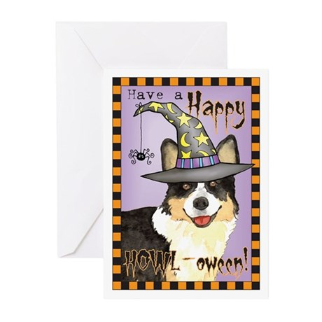 Halloween Corgi Greeting Cards (Pk of 10)