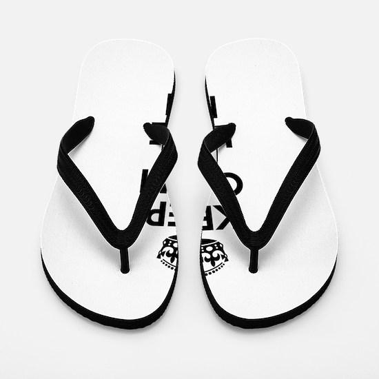 Keep Calm and Love MIKI Flip Flops