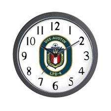 USS Austin (LPD 4) Wall Clock