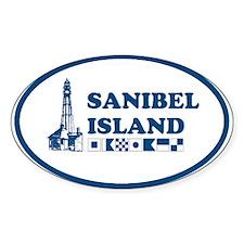 Sanibel Island Oval Decal