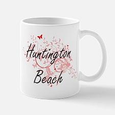 Huntington Beach California City Artistic des Mugs