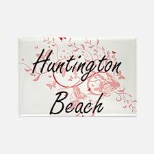 Huntington Beach California City Artistic Magnets