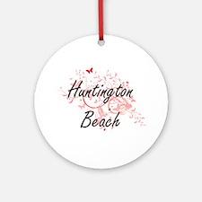 Huntington Beach California City Ar Round Ornament