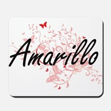 Amarillo Texas City Artistic design with Mousepad