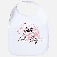 Salt Lake City Utah City Artistic design with Bib