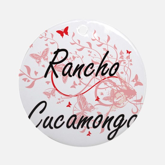 Rancho Cucamonga California City Ar Round Ornament