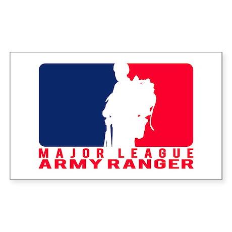 Major League Army Ranger Rectangle Sticker