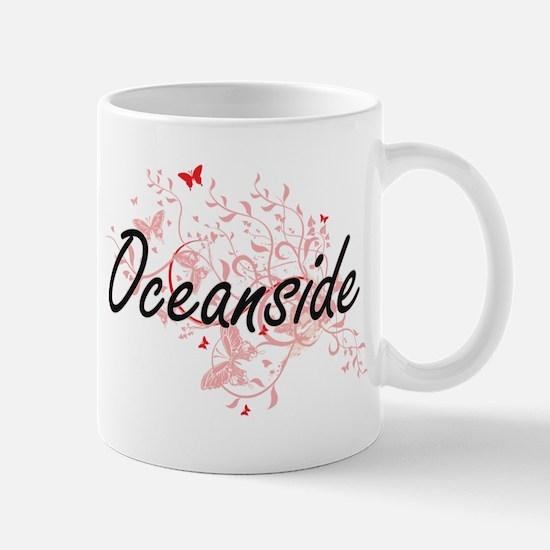 Oceanside California City Artistic design wit Mugs
