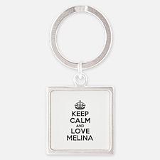 Keep Calm and Love MELINA Keychains