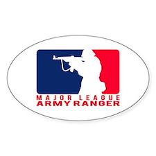 Major League Army Ranger 2 Oval Decal