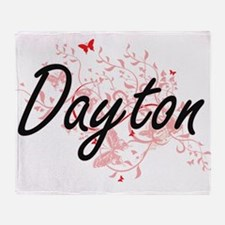Dayton Ohio City Artistic design wit Throw Blanket