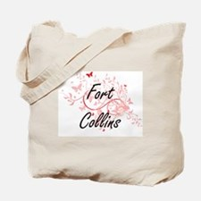 Fort Collins Colorado City Artistic desig Tote Bag